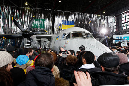 Guests and workers near AN-132d