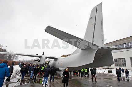 The tail of the plane AN-132d