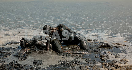 Girls take curative mud baths.
