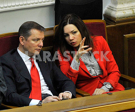 Oleg Lyashko and Victoria Syamar
