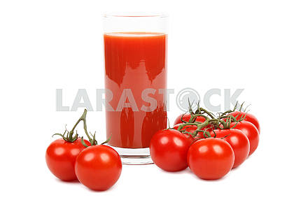 Tomato juice and tomatoes.