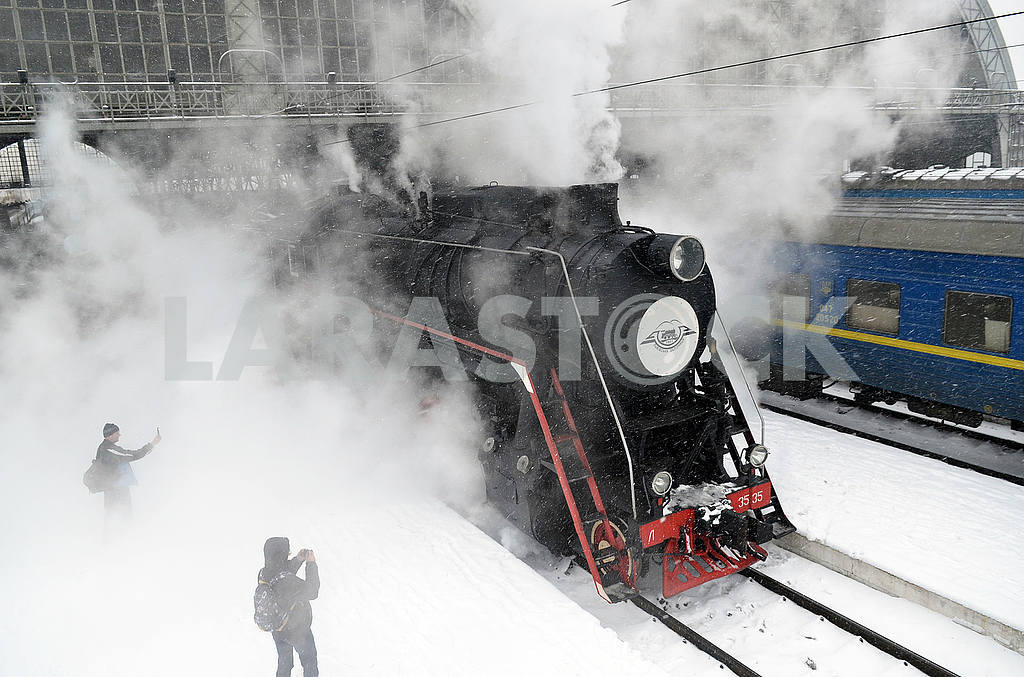 Паровоз ретро поезда — Изображение 49542