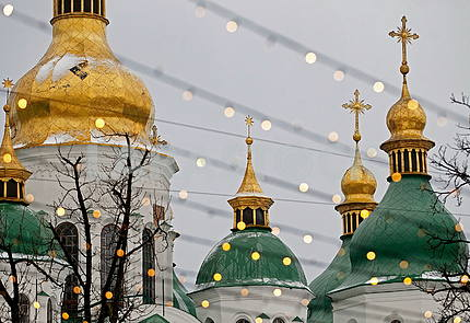 The cupolas of St. Sophia Cathedral
