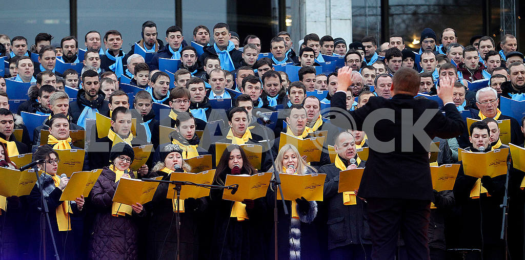 Choir near the Ukrainian House