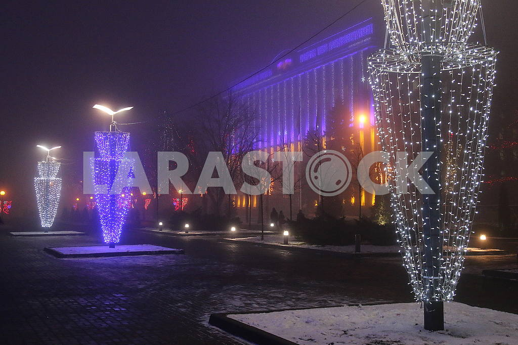 New Year's illumination on the Dnieper Street — Image 49578