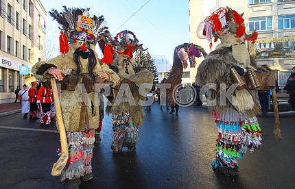 Parade of Malachines in Suceava