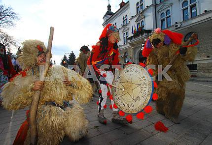 Participants of the Malanok Festival in Suceava