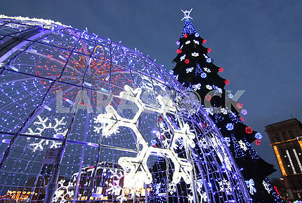 Christmas decorations in the Dnieper