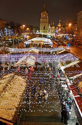 Вертикальный вид на Софиевскую площадь