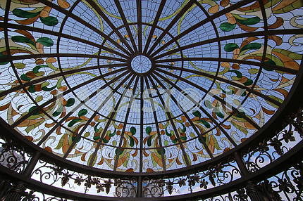The openwork roof of the pump-room in the Dnieper