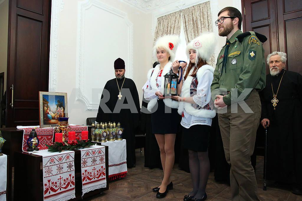Plastuny stanitsa Dnieper with Bethlehem fire — Image 49770