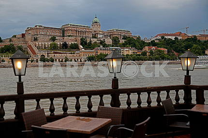 View of the Danube and the palace of the king