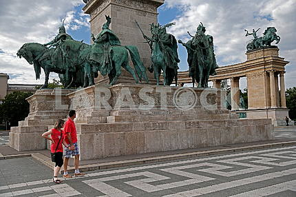 Monument to the 1000th anniversary of Hungary