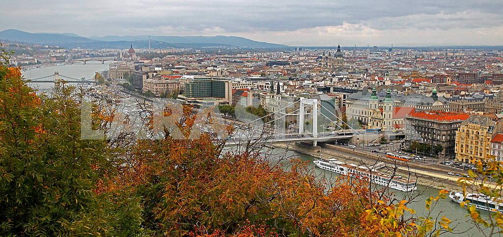 Erzsebet Bridge in Autumn