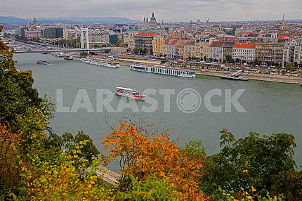 View of the Danube in Budapest