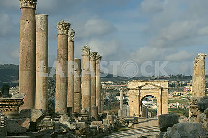 Ruins of the ancient city of Jarash
