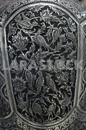 Pattern on silver