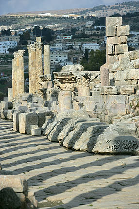 The ruins of the ancient city of Jarash