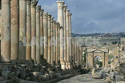 Stone ruins of the ancient city of Jarash