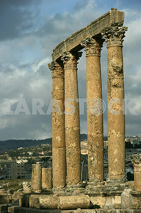 Ancient columns in Jarash