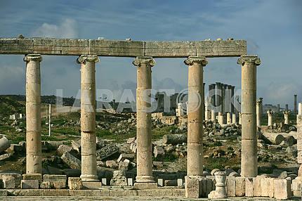Ancient colonnade in Jarash