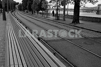 Tram line in Budapest
