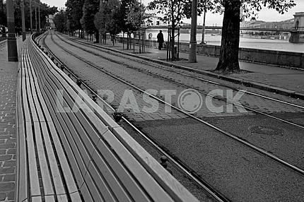 Tram line in Budapest