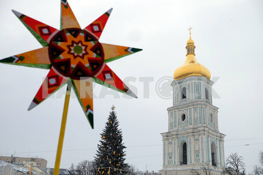 Christmas Celebration at St. Sophia Square in Kyiv — Image 49880