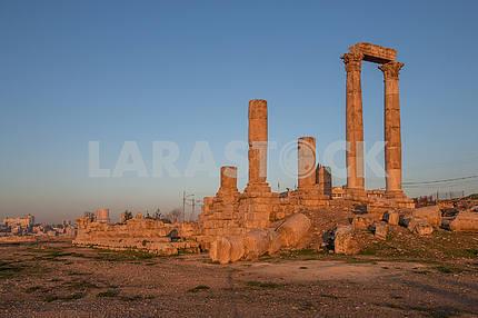 Ruins of Roman architecture in Amman