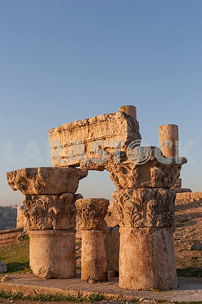 Ruins of Roman columns in Amman