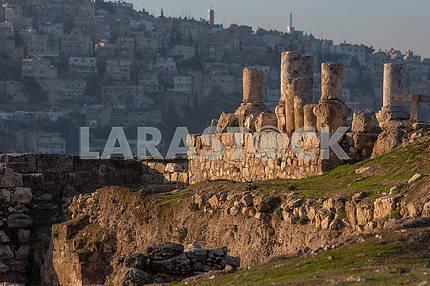 Ruins of a Roman city in Amman