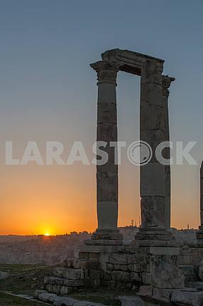 Восход солнца в Аммане