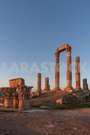 Dawn in ancient Amman