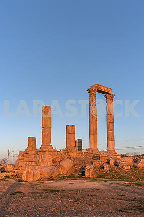 Ruins of the Roman Forum in Amman