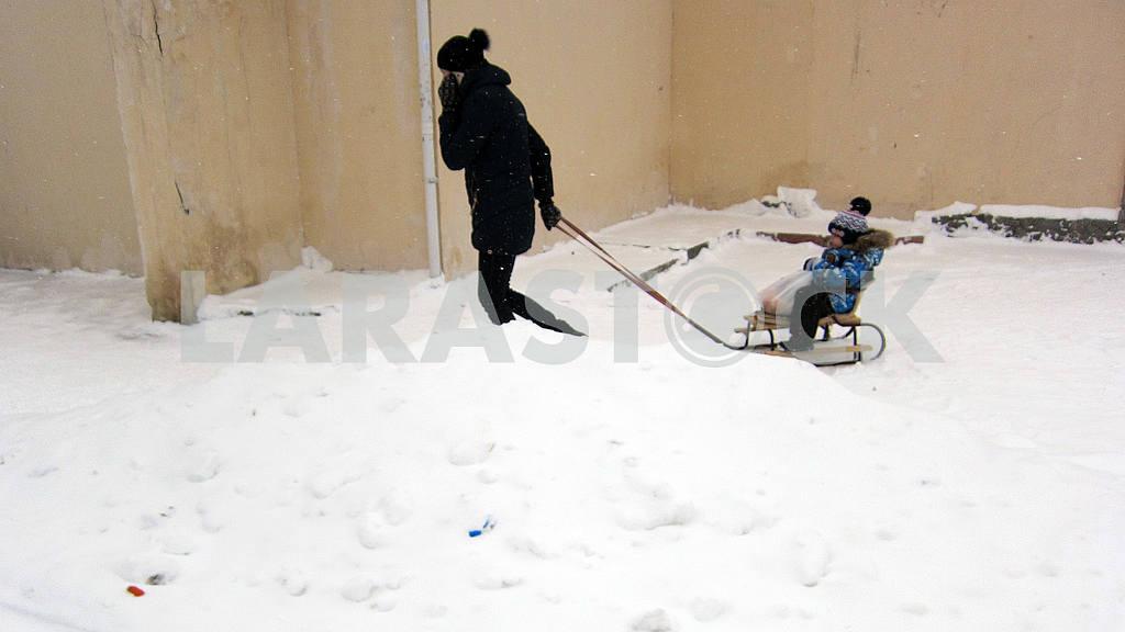 Winter in Kiev, blizzard bad weather — Image 49928