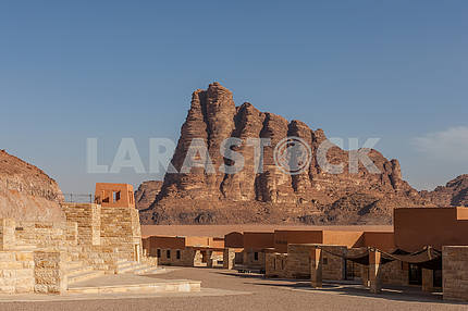 Mountain in Wadi Rum desert