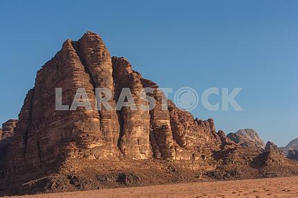 Wadi Rum, the desert in Jordan