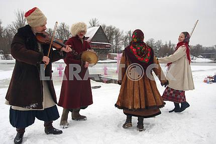 Celebration of Epiphany in Kiev.