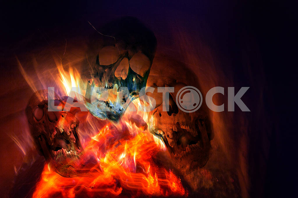 Fire from a fireplace — Image 49974