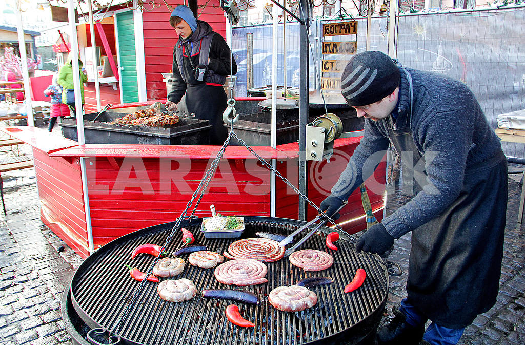 The seller of sausages on the Sofia Square — Image 49994