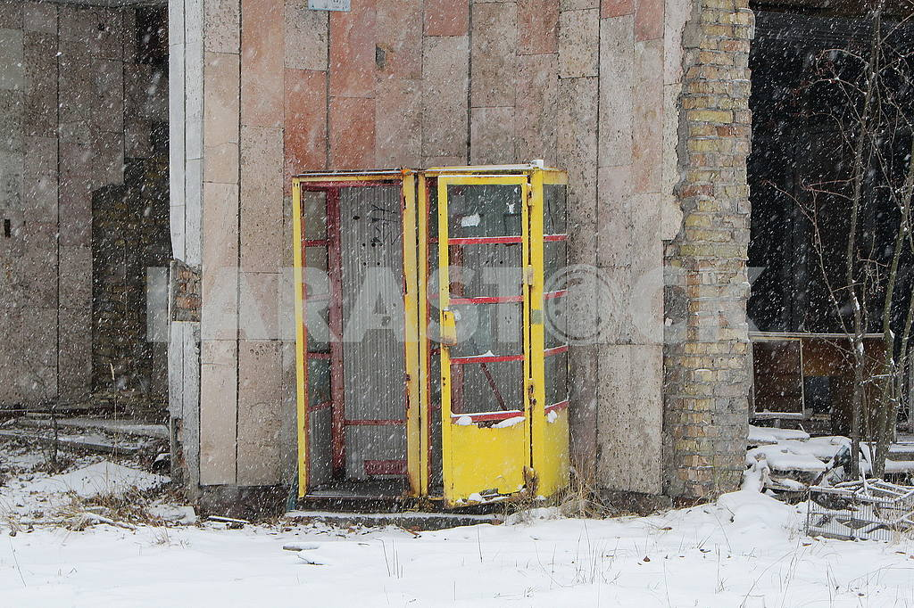 Telephone booths in Pripyat — Image 50039
