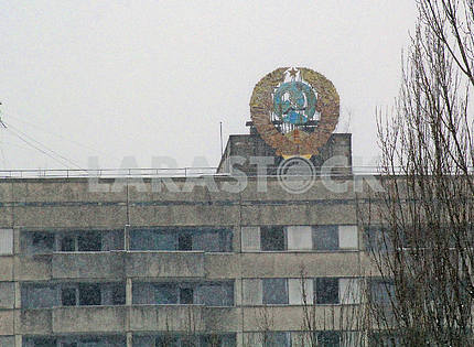 Coat of arms of the Soviet Union in Pripyat