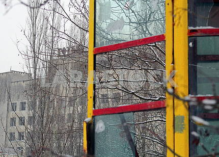 Telephone booth in Pripyat