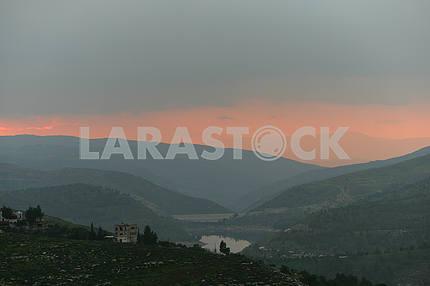 Mountain lake in Jordan