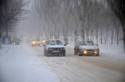 Cars on the street of Nikolaev