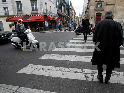 Pedestrian crossing in Paris