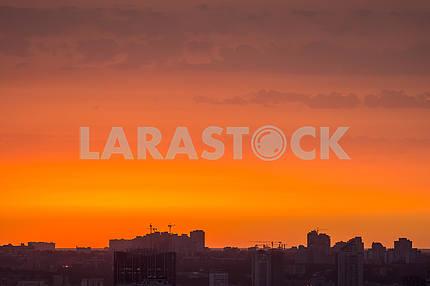 City Quarter against the Sunset
