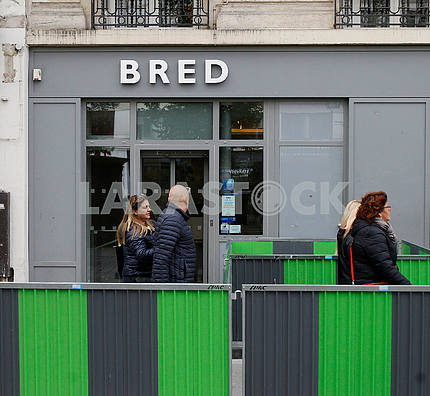 Passers-by on Paris street