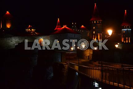 Kamenetz-Podolsky castle (fortress) at night