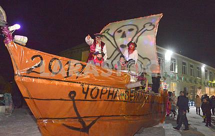 Праздник Маланки, пиратский корабль